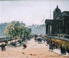 the national gallery, trafalgar square by louis braquaval