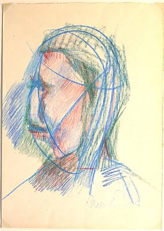 untitled (portrait im profil) by vladimir yakovlev