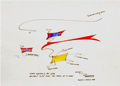 untitled (flags waving in the wind) by lawrence weiner
