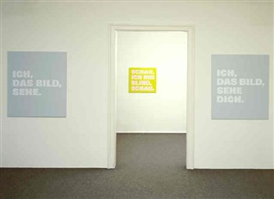 ich, ich sehe., 1998, by rémy zaugg
