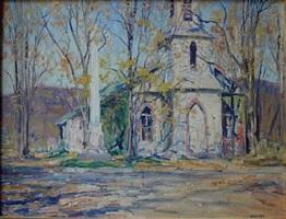 kent (connecticutt) church by robert hogg nisbet