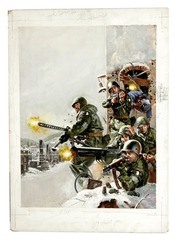 101st Airborne Division stand at Bastogne by Basil Gogos on artnet