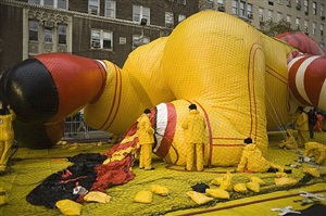 preparations for macy's parade, new york by eric smith