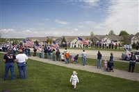 patriot guard members honor american soldier killed in iraq, hudsonville, michigan by eric smith