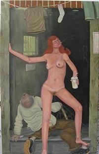 woman in doorway by michael cline
