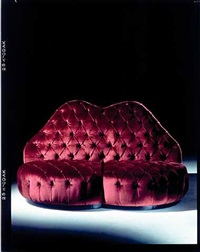 "devalle sofa – homage to the devalle house, 1939 (from the collection ""homage to carlo mollino"") by carlo mollino"