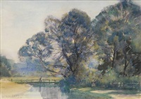 river landscape by sir alfred east