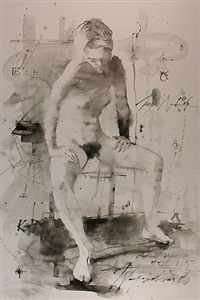 'akt sitzend' nr. 2 by eduard gorokhovsky