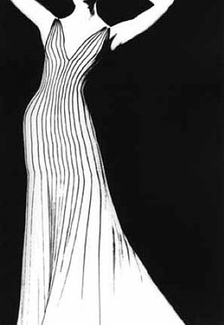 dress by thierry mugler, for german vogue by lillian bassman