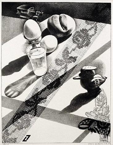 still life with breakfast by louis lozowick