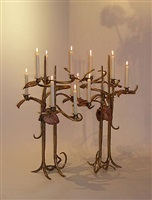 pair of candlesticks by claude lalanne