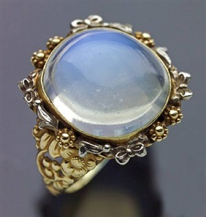 superb moonstone ring by johann bauer