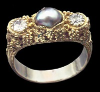 superb arts & crafts ring by artificers' guild