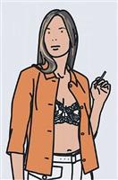 ruth smoking.1 by julian opie