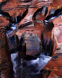 small stream erosions coyote canyon, utah, august 14 by eliot porter