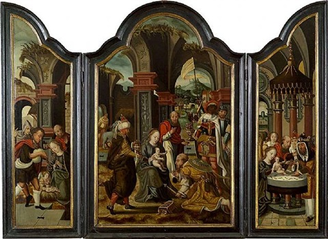 adoration des mages by pieter cock van aelst the elder