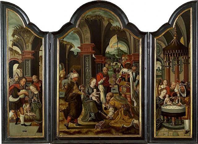 adoration des mages by pieter coecke van aelst the elder