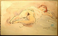 reclining nude by jules pascin