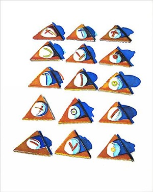 triangle thins by wayne thiebaud