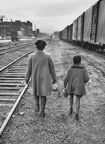 brown sisters walk to school, topeka, kansas by carl iwasaki
