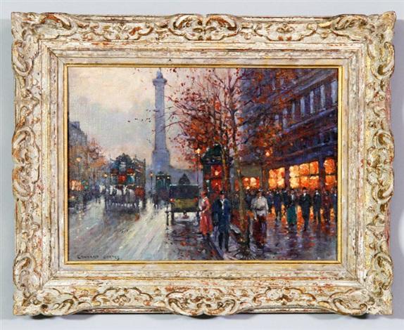 parisian scene by edouard léon cortès