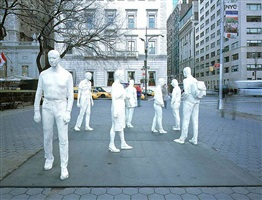 street crossing by george segal