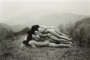 to add one meter to an anonymous mountain, 1995<br /> printed: 2006 by zhang huan