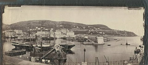 le port de nice, vue panoramique by charles nègre