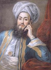 portrait of saïd effendi by charles-antoine coypel