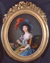 portrait of mademoiselle lemoine by elisabeth lemoine