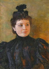female portrait (sold) by nikolai dmitrievich kuznetsov