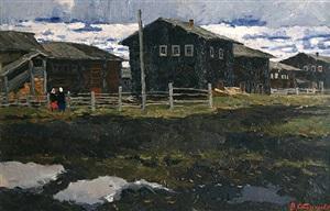 a spring gloomy day by vladimir feodorovitch stozharov