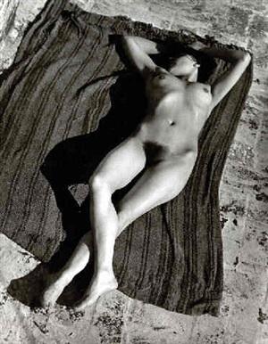 tina, nude on the azotea (37287) by edward weston