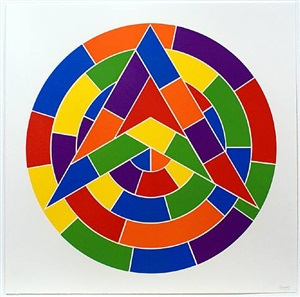 tondo 1 (3 point star) by sol lewitt