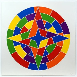 tondo 2 (4 point star) by sol lewitt