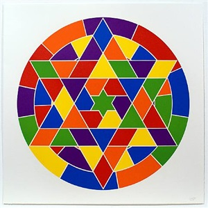 tondo 4 (6 point star) by sol lewitt