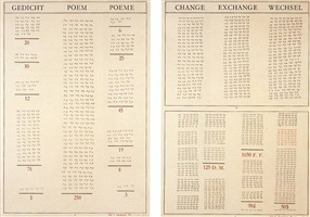 gedicht/poem/poème - change/exchange/wechsel by marcel broodthaers