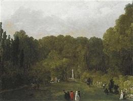 la promenade galante by hubert robert