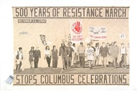 500 years of resistance march stops columbus celebrations by rigo 23