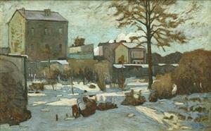 winter landscape by alexandre altmann