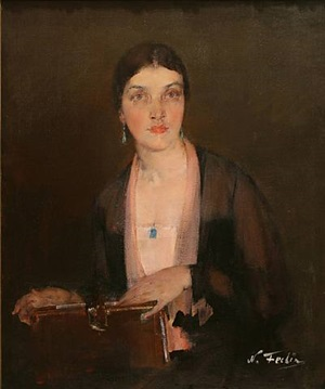 alexandra's portrait (sold) by nikolai fechin