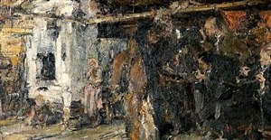 peasant's house (sold) by nikolai fechin