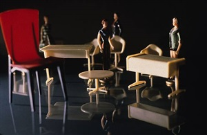 modern office (with four women) by laurie simmons