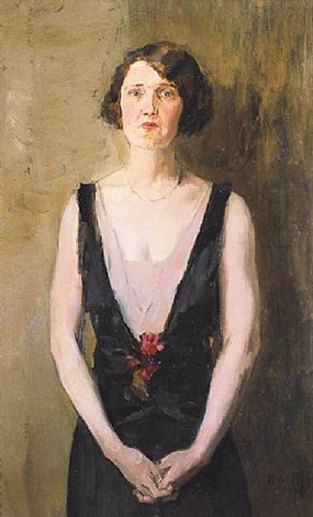 portrait of beulah watson by isaac israels