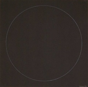 six geometric figures - circle by sol lewitt