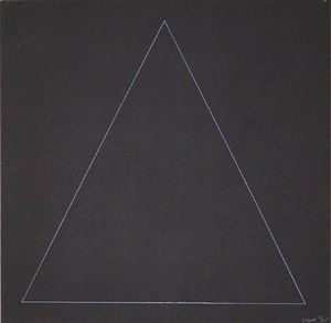 six geometric figures - triangle by sol lewitt