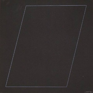 six geometric figures - parallelogram by sol lewitt