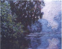 morning on the siene, near giverny after monet by vik muniz