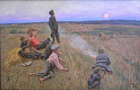 boys in the field by aleksei and sergei tkachev