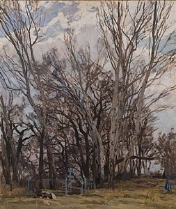 village cemetery by alexei m. gritsai
